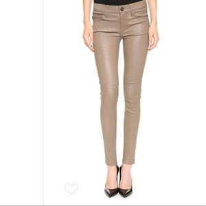 leather current elliott pants size 26 in fawn